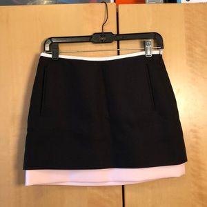 Diane Von Furstenberg black pink miniskirt size 4